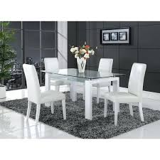 glass top dining table set 4 chairs glass top breakfast table white solid wood glass top dining table