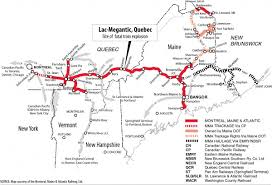 new england central railroad map one man train crews are unsafe says union negotiating with montreal