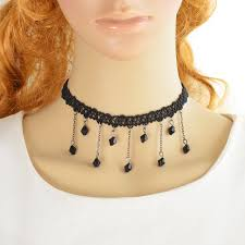 black beaded choker necklace images 2018 gothic style punk tattoo choker stretch necklace black jpg