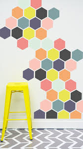bright honey comb wall decal by thelovelywall on etsy 50 00