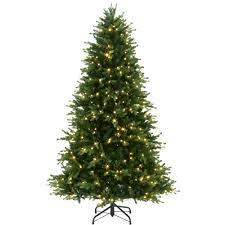 noble fir christmas tree general foam 7 5 ft pre lit deluxe winter white fir artificial