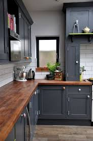 interior small l shape kitchen decorating using dark brown