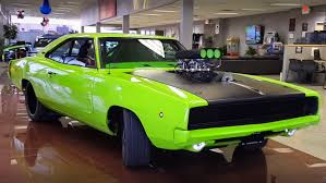 1968 dodge charger green check this cool 1968 dodge charger 526 blown hemi