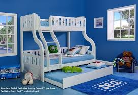 Solid Wood Bunk Beds Uk Luxury Carved Solid Wood White Sleeper Bunk Bed And Guest Bed