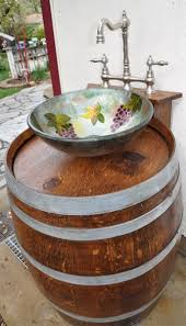 Diy Outdoor Sink Station by Turn A Wooden Cable Spool Into An Outdoor Kitchen Or Garden Sink