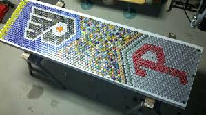 bottle cap table designs beer bottle cap coffee table home design ideas and pictures