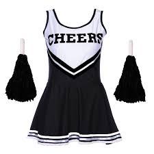 cheerleader costumes for halloween black halloween cheerleader fancy dress high uniform