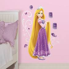 rapunzel bedroom princess rapunzel giant wall stickers with glitter great here