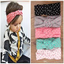 polka dot hair baby kids knot headbands braided headwrap polka dot cross knot