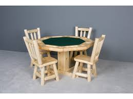 log furniture rustic log poker table becker furniture world