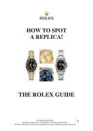 rolex science the fake signs 3