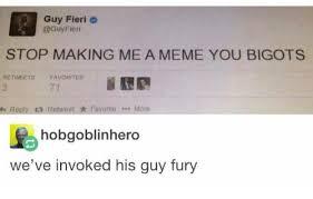 Meme Making Website - guy fieri fieri stop making me a meme you bigots re tweets