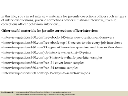 Correctional Officer Resume Examples by Top 10 Juvenile Corrections Officer Interview Questions And Answers
