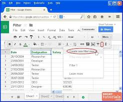 Create A Doc Spreadsheet How To Create Filter View In Spreadsheet