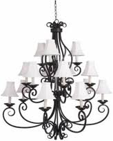 White Chandelier With Shades Great Deals On Black Iron Chandelier Lighting