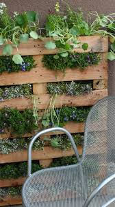 Vertical Flower Bed - creative flower bed ideas using a pond liner and pallet
