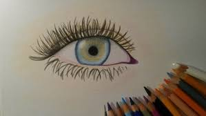 how to draw an eye with colored pencils easy way youtube