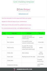 Prospect Tracking Spreadsheet Goal Tracking Template Virtren Com