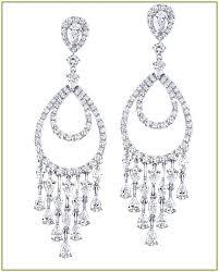 Designer Chandelier Earrings Designer Chandelier Earrings 1 Ct G H Chandelier Earrings