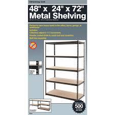 unbranded l beam 5 tier steel shelving 341472 do it best