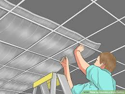 How To Soundproof A Basement Ceiling by How To Insulate A Drop Ceiling 6 Steps With Pictures Wikihow