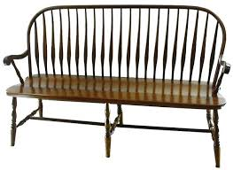 Antique Windsor Bench Amish Bent Feather Windsor Bench Windsor F C Bench And Feathers