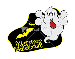 scary halloween cutouts funny skeleton ghost halloween vector illustration stock image