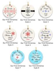 1st Christmas Decorations Our First Christmas Ornaments Available In 8 Designs