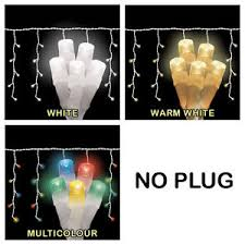 battery operated icicle christmas lights 200 look no plug battery operated christmas led icicle lights ebay