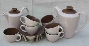 Coffee Set tweseldown artisan market poole pottery pink coffee set createvintage
