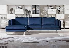 Navy Blue Leather Sofa 2018 Navy Blue Leather Sofas For A Bold And Stunning Centerpiece