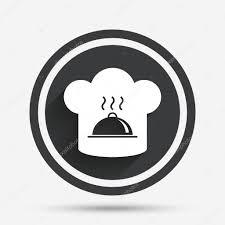 icone cuisine icône de signe de chapeau chef symbole de la cuisine image