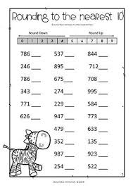 rounding integer numbers the 25 best rounding worksheets ideas on rounding