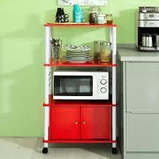 micro cuisine meuble rangement cuisine roulant en bois chariot de cuisine de