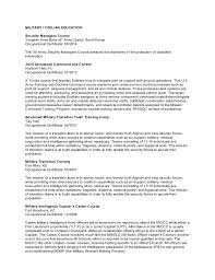 Military Resume For Civilian Job by Resume For Jeffrey E Johnson