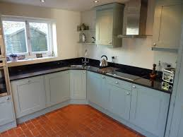blue grey painted kitchen by henderson furniture brighton uk Paint For Kitchen Cabinets Uk