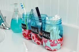 Mason Jar Bathroom Organizer With Mason Jars Real Housemoms