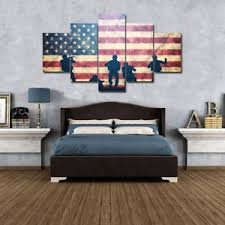 american flag home decor marine corps art wall american flag 5 piece canvas set home decor
