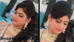 marriage bridal hairstyle indian wedding makeup modern reception look for bride youtube