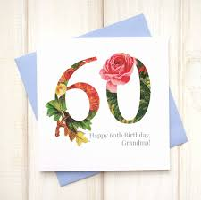 60 Birthday Cards Personalised Floral 60th Birthday Card By Chi Chi Moi