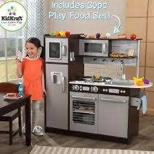 kids pretend play wooden kitchen set 30 pc cooking food playset