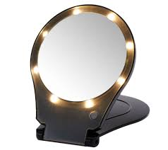 floxite 5x magnifying 360 degree lighted home u0026 travel mirror