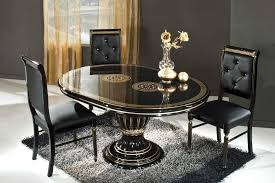 black round extendable dining table made in italy