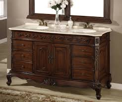 Teak Vanity Bathroom by 60 Inch Double Sink Vanity Bathroom Cabinet U2014 The Homy Design