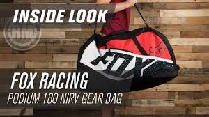 fox motocross gear nz fox racing podium 180 nirv gear bag inside look youtube