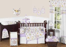 captivating purple and yellow baby bedding 35 with additional home