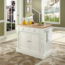 28 white kitchen island with butcher block top crosley