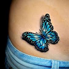 Butterflies Tattoos On - learn more about lifelike color butterfly finished by