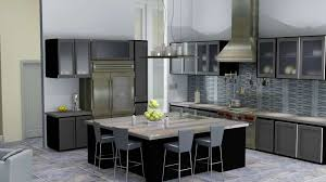 Kitchen Cabinets Pine Tiles Backsplash Maple Wood Black Raised Door Frosted Glass