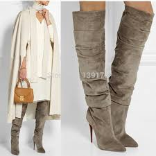 inexpensive womens boots size 11 wholesale lace up knee high flat boots 2015 arrival